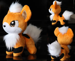 Growlithe Pokeplush by MagnaStorm