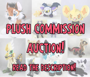 plush commission auction! CLOSED THANK YOU by MagnaStorm