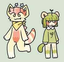 (#1 left) collab adopts w/ Saturnzie by tokyokai