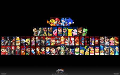 Super Smash Bros. Wii U/3DS Wallpaper 2 by PacDuck