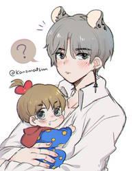 V and baby TATA by Kanomatsu