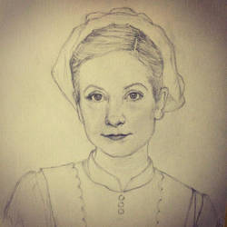 Anna - Downton Abbey - Sketch for oilpainting by 73SandyBee