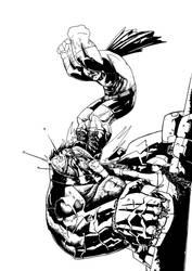 Major Zombie vs Orang Mutan by Faezal