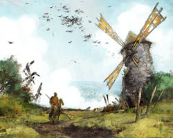 Old windmill by EGOR-URSUS
