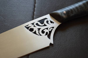 NHOCO Auction Knife - Piercework Close-up by CuSmith