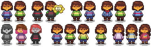 UT AU Sprite experiments by LittleDreamspirit