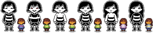 Glitched Tale humans [overworld and fight] by LittleDreamspirit