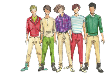 One Direction comic PNG by kryptiworld
