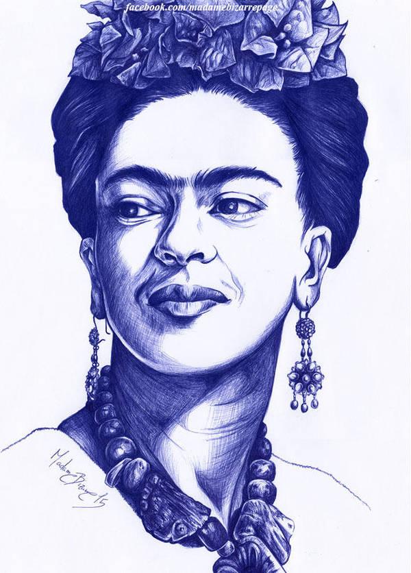Frida Kahlo by madamebizarreartwork