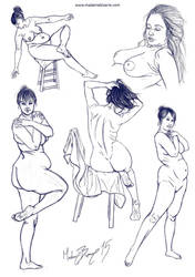 Figures I by madamebizarreartwork