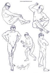 Figures III by madamebizarreartwork