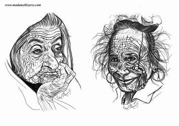Portrait study I by madamebizarreartwork