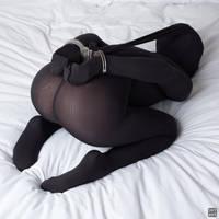 Cuffed in black nylon 10 by okt0br