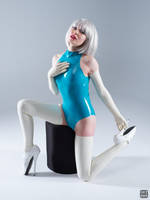 Turquoise and white latex 7 by okt0br