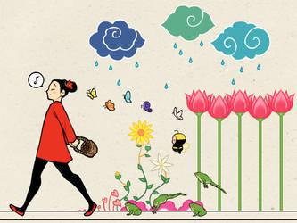 Pucca Desktop Wallpaper by LittleKidsin