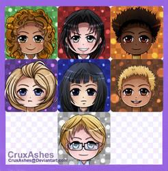 OC Chibi Icons by CruxAshes