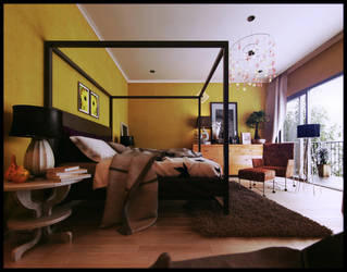 the yellow bedroom by Romi3D