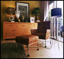 grey teen bedroom 3 by Romi3D
