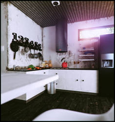 nature kitchen  view by Romi3D