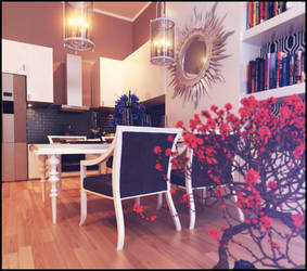 intrior apartment view dinning room by Romi3D