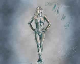 Sketch-blue-nude by Drew-Waylander