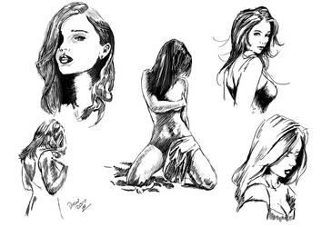 5 sketch Ink by Drew-Waylander