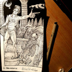 Necromancy - Inktober DAY 2 GUILDE DES CREATEURS by TheLuckiness