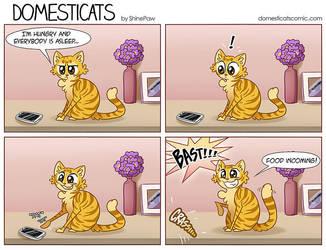 DomestiCats - Cat VS phone by ShinePawArt