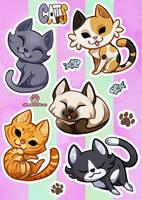 Kitty stickers by ShinePawArt