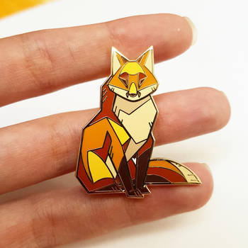 Angular fox pin by ShinePawArt