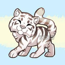 Chibi White Tiger by ShinePawArt