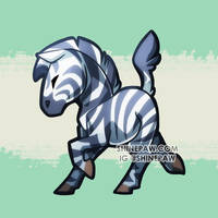 Zebra chibi by ShinePawArt