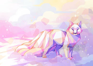 Crystal Kitsune by ShinePawArt