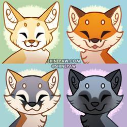 Happy Fox icons by ShinePawArt