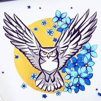 Oracle owl by ShinePawArt