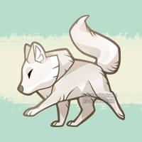 Arctic Wolf chibi by ShinePawArt