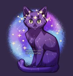 Starry Cat by ShinePawArt