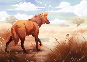 Maned wolf by ShinePawArt