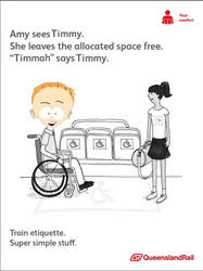 South Park Timmy Queensland Rail etiquette by madme2013