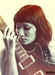 ragazza e chitarra by renansa