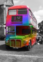 Rainbow Bus by TheBigDaveC