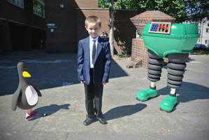 My Son with Techno Trousers and Feathers McGraw by TheBigDaveC