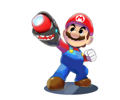 Mario and Luigi Kingdom Battle Bros Artwork. by NickTheGamemaster