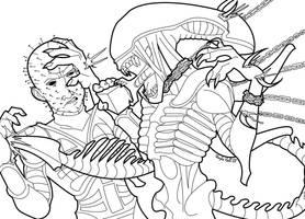 AT: Alien vs Pinhead by AstroZerk