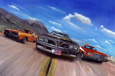 Honky-Tonk Racers by solman1