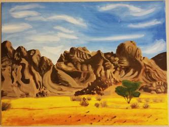 Desert Painting by BirdofHearts