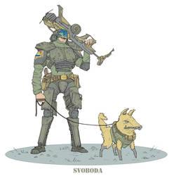 stalker svoboda i sobaka by JackThe-Blade