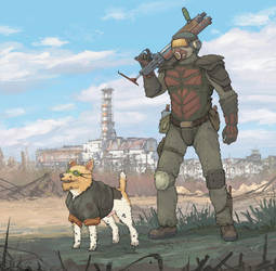 stalker dolg and dog by JackThe-Blade