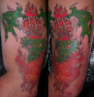 CFH Dragon RIP Dime by LucidPetroglyphs666