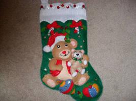 Felt Christmas Stocking by LucidPetroglyphs666